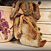 """Куклы и игрушки ручной работы. Ярмарка Мастеров - ручная работа """" Зайка на ладошке """". Handmade."""