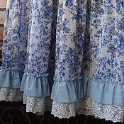 Одежда ручной работы. Ярмарка Мастеров - ручная работа ШЕББИ САРАФАН MAXI голубой кантри прованс кружево. Handmade.