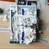 """Блокноты ручной работы. Ярмарка Мастеров - ручная работа Блокнот (moomin book)  """"Волшебная зима"""". Handmade."""