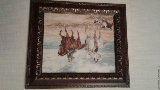 Животные ручной работы. Ярмарка Мастеров - ручная работа. Купить Картина. Handmade. Картина в подарок, картина вышитая крестиком
