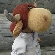 Куклы и игрушки ручной работы. Ярмарка Мастеров - ручная работа Интерьерная игрушка лавандовая коровка. Handmade.
