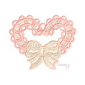 Материалы для творчества handmade. Livemaster - original item Embroidery applique FSL lace pink Heart bow free. Handmade.