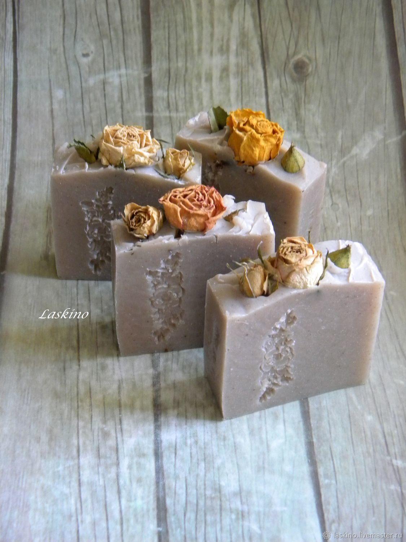 Мыло ручной работы. Ярмарка Мастеров - ручная работа. Купить НЕЖНОСТЬ с глиной гассул ( рассул), натуральное мыло с нуля. Handmade.