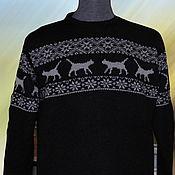 Одежда ручной работы. Ярмарка Мастеров - ручная работа Тату-свитер -  Кошки. Handmade.
