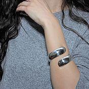 Украшения handmade. Livemaster - original item Minima Series Curl bracelet in polished silver ASH0008. Handmade.