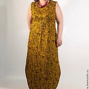 Одежда ручной работы. Ярмарка Мастеров - ручная работа Платье-сарафан Горчица. Handmade.