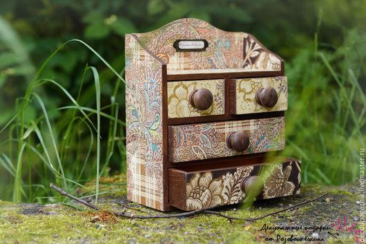 мини-комод для украшений ручная работа декупаж купить мини-комод в спб деревянный для хранения подарок купить мини-комод недорого мини-комод для мелочей