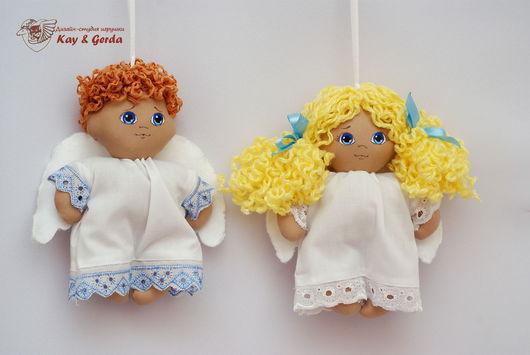 Человечки ручной работы. Ярмарка Мастеров - ручная работа. Купить Ангелочек. Handmade. Ангел, ангел-подвеска, Кай и Герда