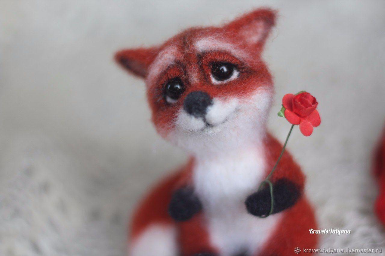 Copyright felted toy tiny Fox Juliet, Felted Toy, Kuragino,  Фото №1