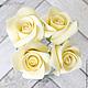 Заколки ручной работы. Шпильки с розами (маленькие) - Айвори кремовый. Tanya Flower. Ярмарка Мастеров. Цветы в волосы, заколка для волос