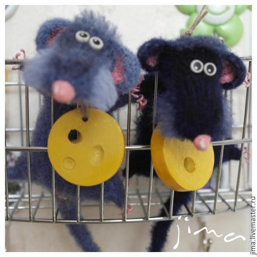 Игрушки животные, ручной работы. Ярмарка Мастеров - ручная работа. Купить Старый мышь. Handmade. Серый, подарок на любой случай