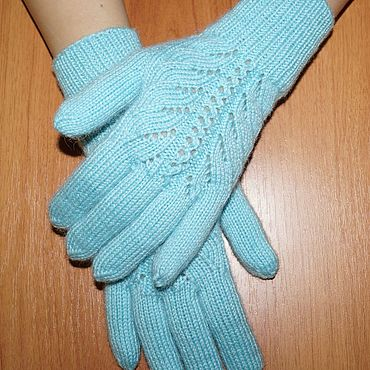 Accessories handmade. Livemaster - original item Mint, fishnet gloves. Women`s knitted gloves.. Handmade.