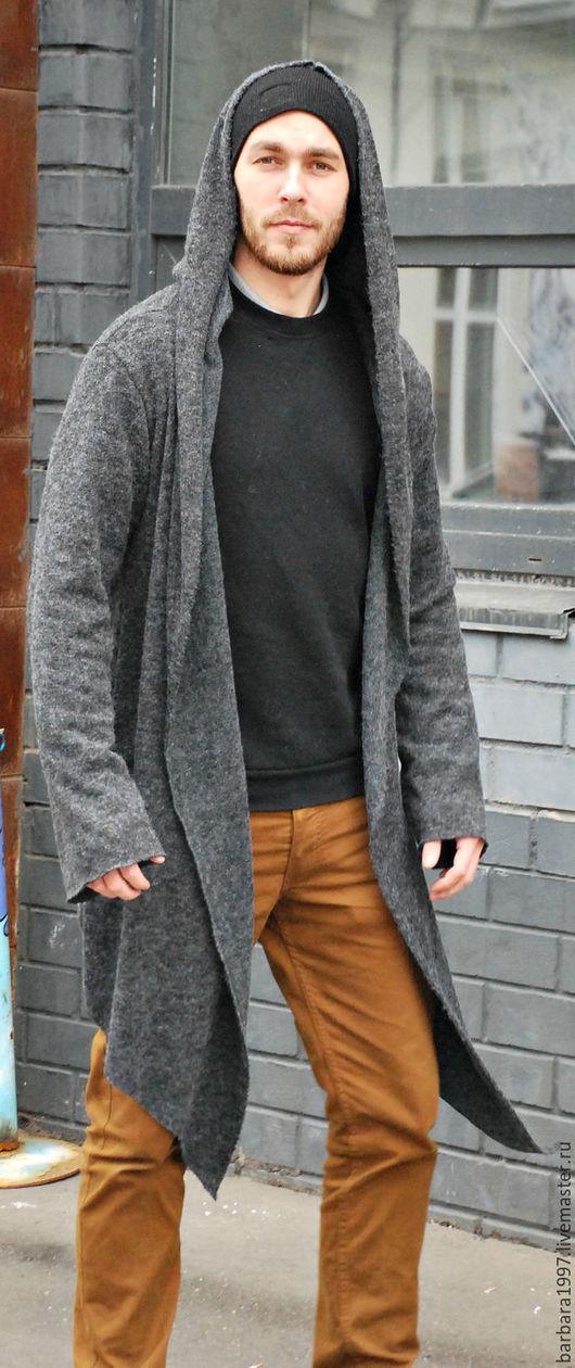 Пиджаки, жакеты ручной работы. Ярмарка Мастеров - ручная работа. Купить Мужской кардиган GREY MANTLE. Handmade. Темно-серый