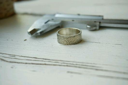 Кольца ручной работы. Ярмарка Мастеров - ручная работа. Купить Кольцо Текстурное Серебро. Handmade. Кольцо текстурное, подарок мужчине