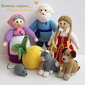 """Мягкие игрушки ручной работы. Ярмарка Мастеров - ручная работа """"Репка"""" вязаная сказка. Handmade."""