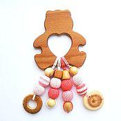 Куклы и игрушки ручной работы. Ярмарка Мастеров - ручная работа Грызунок-прорезыватель Мишка в зефире. Handmade.
