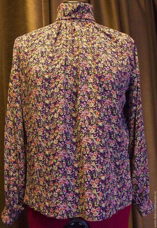 Блузки ручной работы. Ярмарка Мастеров - ручная работа. Купить Блузка Ретро. Handmade. Комбинированный, блуза, драпировка, легкая, зима