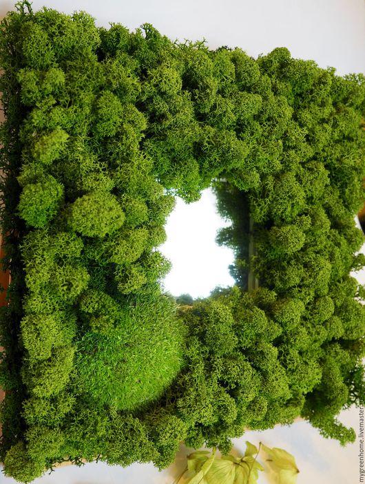"""Зеркала ручной работы. Ярмарка Мастеров - ручная работа. Купить Зеркало """"Лесное озеро"""". Handmade. Зеленый, зеркало ручной работы"""