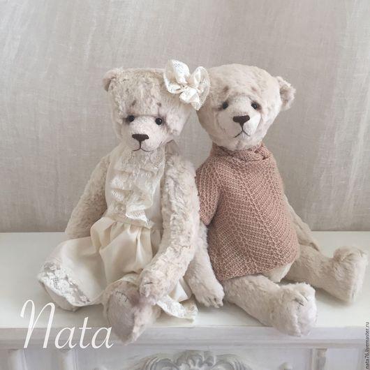 Мишки Тедди ручной работы. Ярмарка Мастеров - ручная работа. Купить Белые мишки Тедди. Handmade. Белый, коллекционная игрушка