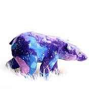 Куклы и игрушки ручной работы. Ярмарка Мастеров - ручная работа Космический медведь Статуэтка Скульптура Игрушка Space Bear Космос. Handmade.