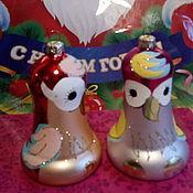 Подарки к праздникам ручной работы. Ярмарка Мастеров - ручная работа новогодние елочные колокола. Handmade.
