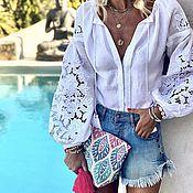 "Одежда handmade. Livemaster - original item Cut-Embroidery blouse ""Rose Bouquet"". Handmade."