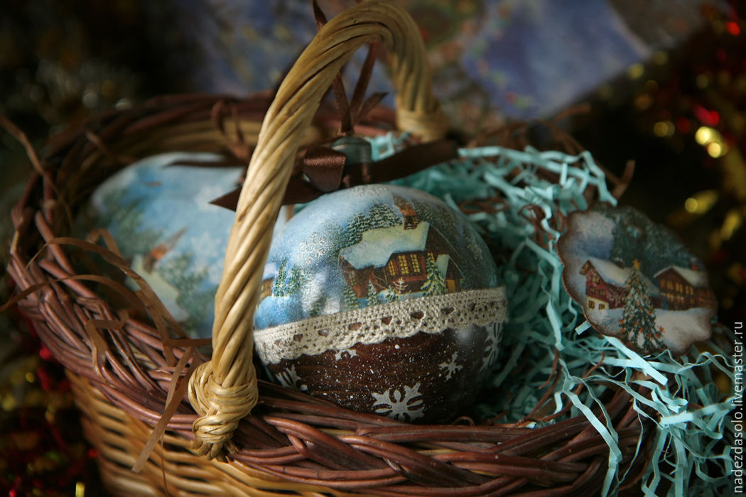 Christmas balls of all different . Decoupage Christmas balls, Christmas decorations, Khimki,  Фото №1