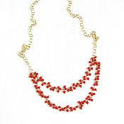 Украшения handmade. Livemaster - original item Necklace of coral