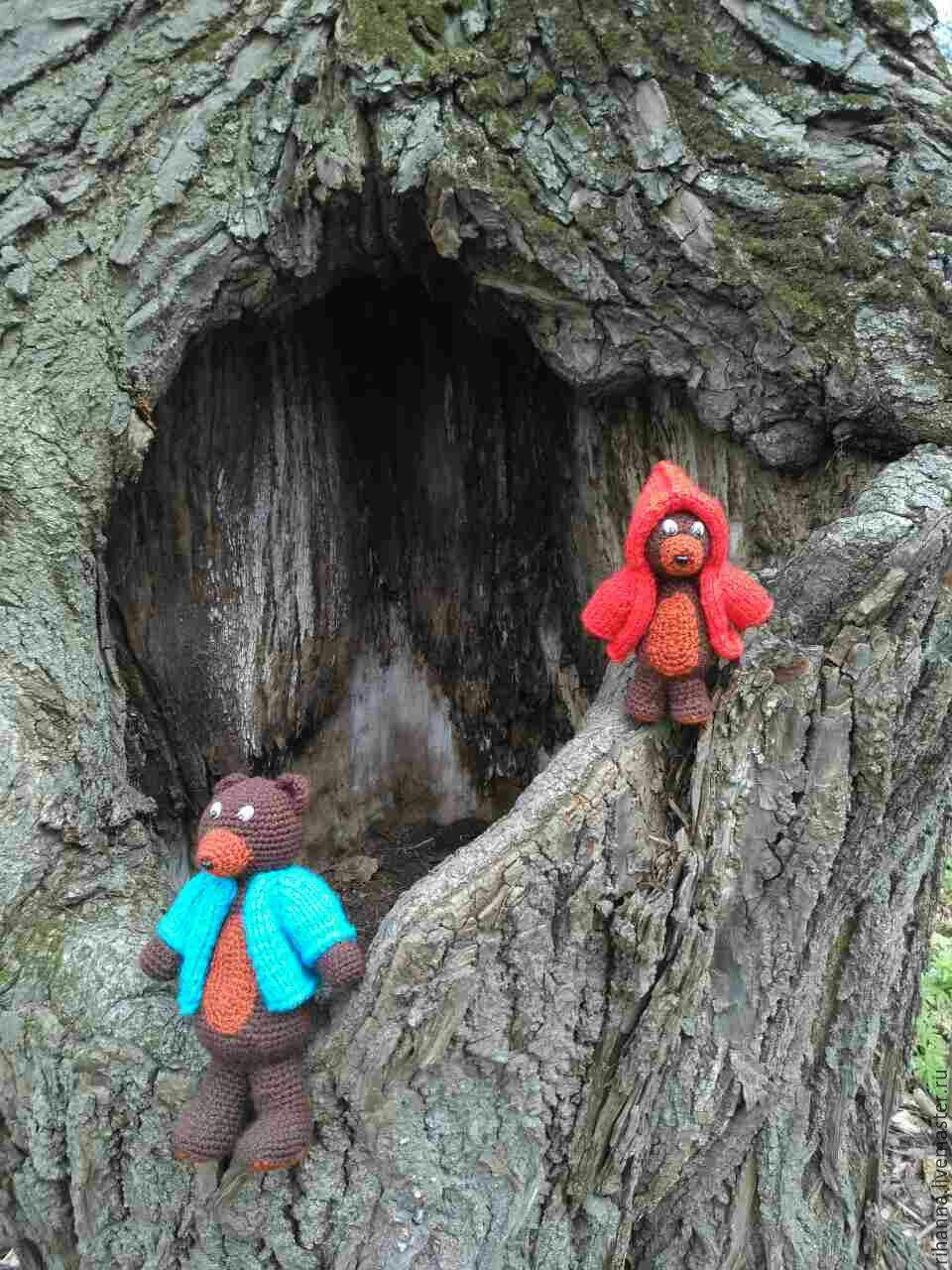 схема вязания крючком игрушку медведя