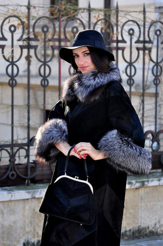 Верхняя одежда ручной работы. Ярмарка Мастеров - ручная работа. Купить Пальто Француженка. Handmade. Черный, пальто, фермуар
