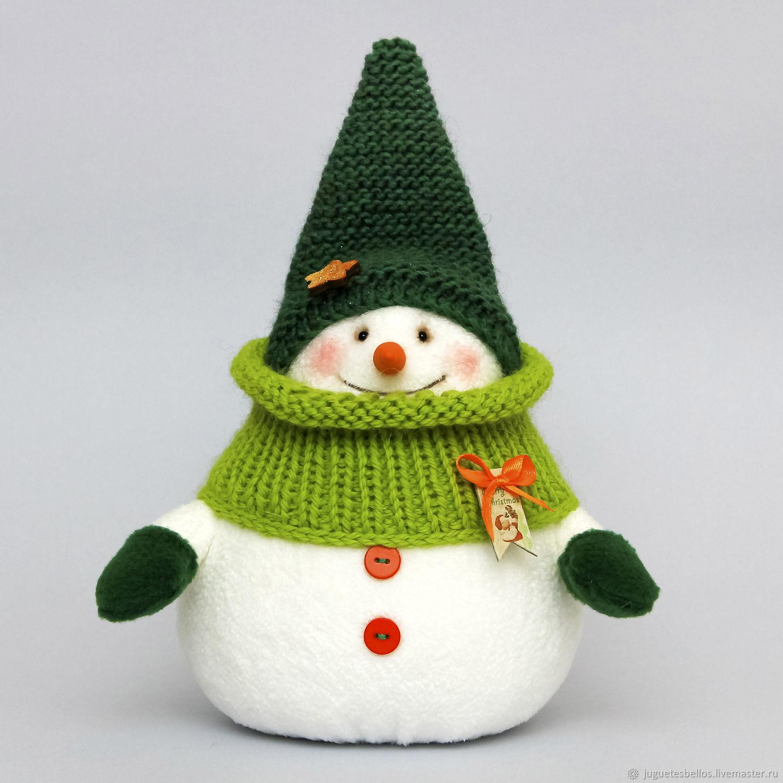 Снеговик из меха своими руками фото 719