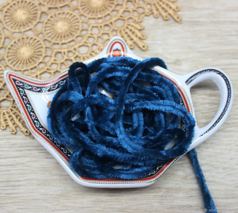 Синель 5 мм полиэстер Циркон 1 метр, Аксессуары для вышивки, Соликамск,  Фото №1