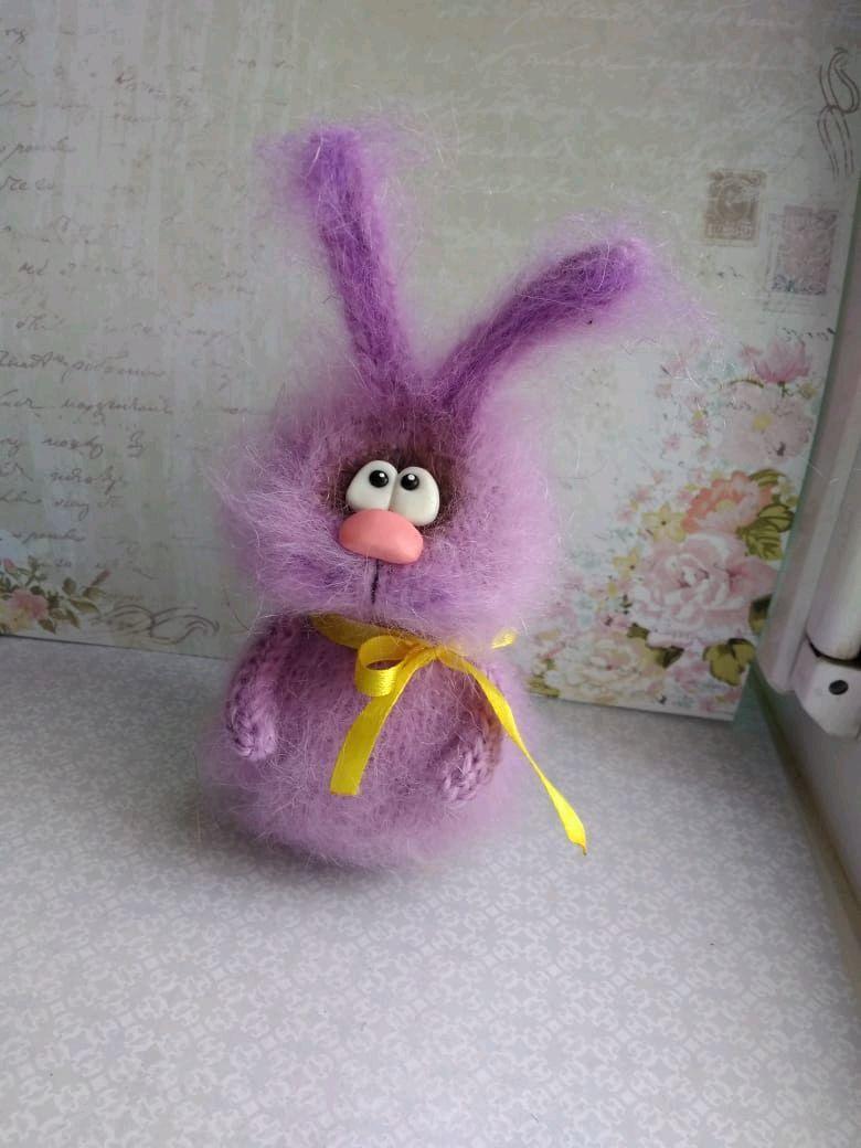 Милый зайка, интерьерная игрушка, Мягкие игрушки, Москва,  Фото №1