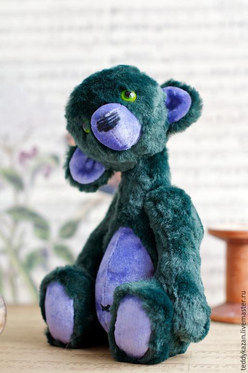 """Мишки Тедди ручной работы. Ярмарка Мастеров - ручная работа. Купить Тедди мишка """"Буууумс"""". Handmade. Зеленый, изумруд"""