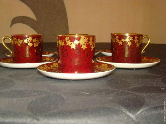 Винтажная посуда. Ярмарка Мастеров - ручная работа. Купить Crown Devon- Английский фарфор  -набор кофейных чашек - 6шт. Handmade.