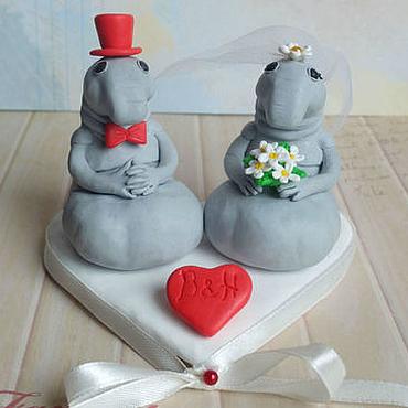 Свадебный салон ручной работы. Ярмарка Мастеров - ручная работа Фигурки на свадебный торт. Handmade.
