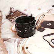 Украшения handmade. Livemaster - original item Cuff bracelet: black lacquer. Handmade.