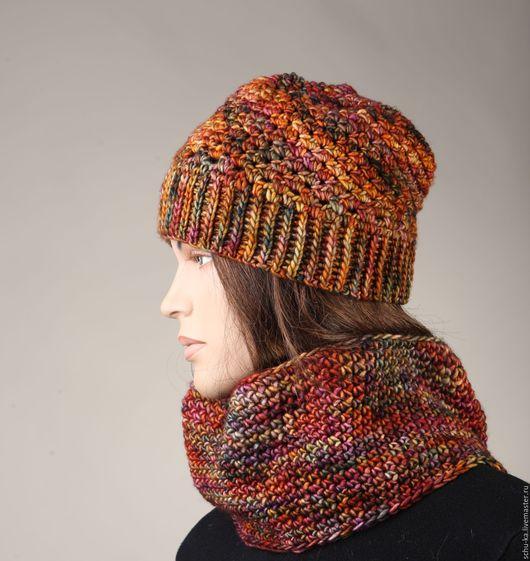 Роскошная и стильная вязаная шапка