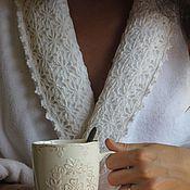 Одежда ручной работы. Ярмарка Мастеров - ручная работа Халат домашний махровый Роскошь. Handmade.