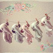 """Куклы и игрушки ручной работы. Ярмарка Мастеров - ручная работа Слоники тедди. Коллекция """"Макаруны"""". Handmade."""
