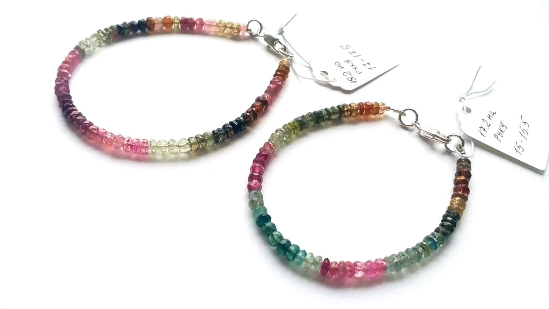Bracelets made of tourmalines, Bead bracelet, Omsk,  Фото №1