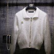 Одежда handmade. Livemaster - original item The bomber jacket in knit. Handmade.