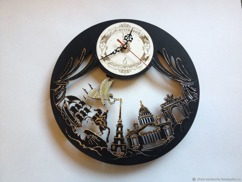 Wall clock Night Petersburg souvenir handmade, Pictures, St. Petersburg,  Фото №1