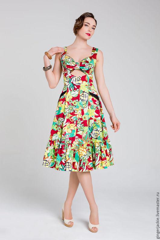 """Платья ручной работы. Ярмарка Мастеров - ручная работа. Купить """"Sundress"""". Handmade. Комбинированный, винтаж"""