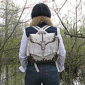 """Сумки и аксессуары handmade. Livemaster - original item Women`s leather backpack """"North to Alaska"""". Handmade."""
