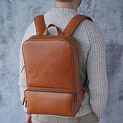Сумки и аксессуары handmade. Livemaster - original item Men`s leather backpack