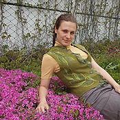 Одежда ручной работы. Ярмарка Мастеров - ручная работа Жилет войлочный  Ветка оливы. Handmade.