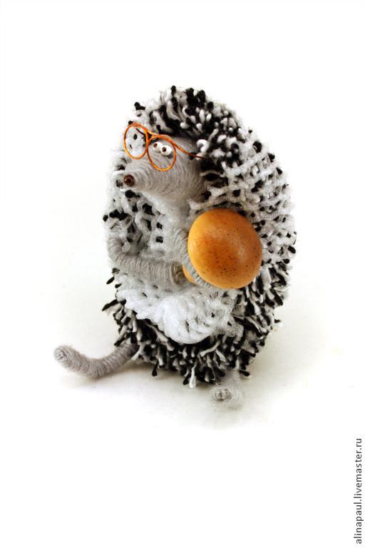 игрушка Ежик бабушка в платке с грибочком – купить на ...