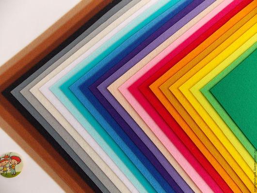 Другие виды рукоделия ручной работы. Ярмарка Мастеров - ручная работа. Купить Набор корейского фетра 1мм 25 цветов 20х30. Handmade.
