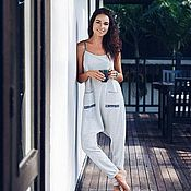 Одежда handmade. Livemaster - original item Jumpsuit made of cotton with a dropped armhole. Handmade.